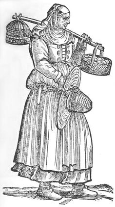 Another Italian peasant woman. She also has the weird decorative buttons on her bodice. And a straw hat!