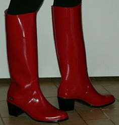 Leather Shoes, Patent Leather, Rubber Rain Boots, Shoe Boots, Women's Fashion, Sexy, Boots, Shoe, Red Timberland Boots