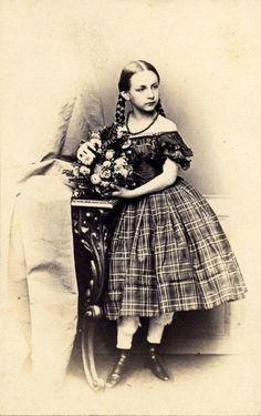 3ee6c38603 Hanns Hanfstaengl, Dresden - Girl With Braids. Sarah Wagner · 1850's Children's  Clothes