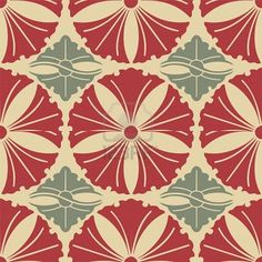 Vintage vector seamless pattern with floral motifs