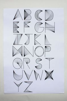 Alphabet: Simple to Try, Place to Fit? Hand Lettering Alphabet, Calligraphy Letters, Typography Letters, Typography Poster, Cool Fonts Alphabet, Cursive Alphabet, Creative Lettering, Lettering Styles, Lettering Design