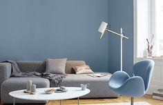 Premium-Wandfarbe. Blau, graublau: Alpina Feine Farben RUHE DES NORDENS - Alpina Farben