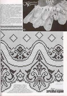"Photo from album ""Дуплет on Yandex. Crochet Curtains, Crochet Fabric, Crochet Buttons, Crochet Crafts, Crochet Hooks, Knit Crochet, Crochet Patterns Filet, Crochet Lace Edging, Crochet Borders"