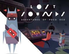 The graphic design of the exploratory mobile game, Adventures of Poco Eco – The Lost Sounds. This was my six-month-long digital project that created a whole new marketing platform,an extended edition LP – where the extra content is a mobile game based on…