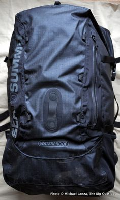 Waterproof Backpack Sea to Summit Flow 35L Dry Pack $200, 35L/2,136 c.i., 2 lbs. 4 oz. One size seatosummit.com We reached the first, deep pool of water that we had to swim across in the narrow can…