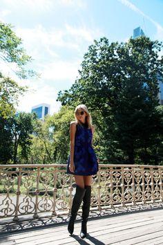 #tuula #dress #blue #black #boots