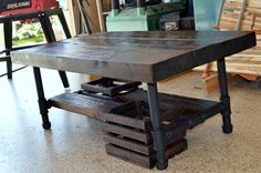 40x20x17 Industrial coffee table made from by OcRusticWoodWorks, $399.00