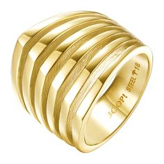 Tommy Hilfiger verflochtener Ring gold s