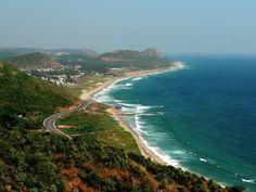 The port city of Vishakhapatnam (Vizag for short), Andhra Pradesh.
