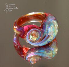 Медовое удовольствие. Стекло ручной работы от Веры Викторовой. Honey pleasure. Handmade glass by Vera Viktorova