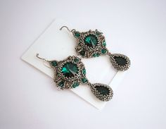 Hey, I found this really awesome Etsy listing at https://www.etsy.com/listing/200906421/pale-green-beadwork-netting-earrings