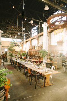 antique shop wedding reception // photo by Kate Harrison // venue: Big Daddy's Antique Shop