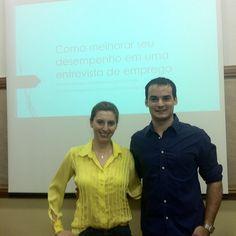 """Com Giovanna Braga em palestra organizada: """"Como melhorar seu desempenho em uma entrevista de emprego"""""""