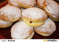 Koblihy bez smažení recept - TopRecepty.cz Cake Cookies, Hamburger, Food And Drink, Treats, Sweet, Gardening, Goodies, Garden, Hamburgers