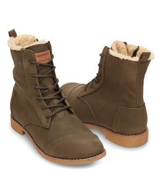 Look at this TOMS Olive Alpa Classic Leather Boot on #zulily today!