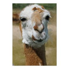 #Happy #Lama, #Painting #Effect #Posters