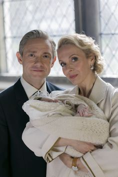 NEW #Sherlock promo images for S4E1 The Six Thatchers. Yes, there is a christening...