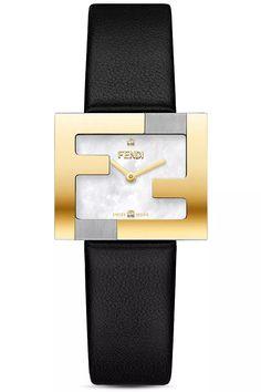 Fendi Fendimania Diamond Leather Strap Watch, x Brand Name Watches, Top Luxury Brands, Nordstrom Gifts, Stainless Steel Case, Luxury Branding, Fendi, Black Leather, Quartz, Pearls