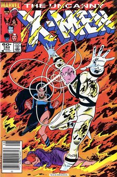X-Men #184, august 1984, cover by John Romita Jr and Dan Green.