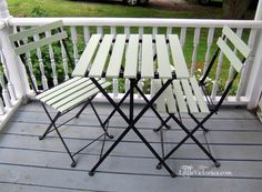 mint painted repainted ikea bistro set