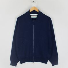 Knit Bomber Jacket - Navy | Universal Works | Peggs & son.