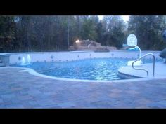 Springfield Missouri Gunite Swimming Pool Has Tanning Ledge, Firebowls, Boulder Spa and Waterfalls  Call Indian Summer Pool and Spa to Get Your Fun In The Sun This Summer! Call Now! 800-537-8808