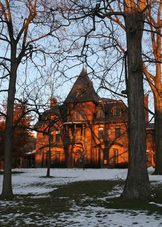 White House at sunset. Andrew Dickson White, Cornell University's first president and co-founder, had his Victorian villa built for his use as president of the university in He announced. Cornell College, American Mansions, Shaped Windows, Henry Miller, College Board, Cornell University, Go Red, Second Empire, Victorian Houses