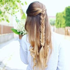 A beautiful fishtail braid by @karindragos