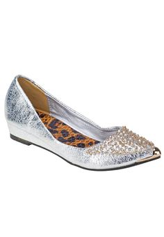 Milly Shoes Leopard Metallic Flats 757 THB