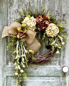 Wreath Crafts, Diy Wreath, Grapevine Wreath, Autumn Wreaths, Christmas Wreaths, Wreath Fall, Elegant Fall Wreaths, Wreaths For Front Door, Door Wreaths