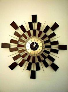 Richmond: Mid Century Modern Atomic Sunburst Repro Clock $100 - http://furnishlyst.com/listings/251501