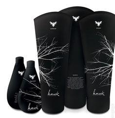 Hawk packaging, black & white