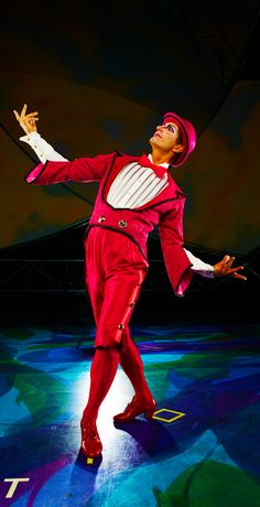Moha-Samedi expects you to take him seriously!   Mystère by Cirque du Soleil