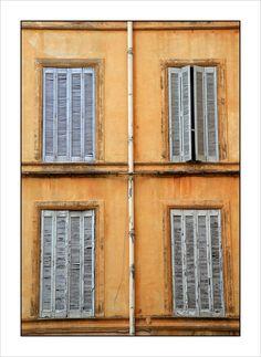 Window shutters in Aix-en-Provence, Provence-Alpes-Cote-dAzur_ South France