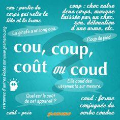 Gramemo » Cou, coup, coût ou coud | POURQUOI PAS... EN FRANÇAIS ? | Scoop.it