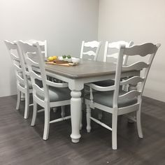 Little White: This is our true pure clean white that is perfect for modern or shabby chic pieces. Little White pairs with all other Superior Paint Co. White Furniture, Custom Furniture, Painted Furniture, Stripping Furniture, Furniture Repair, Farmhouse Style Dining Table, Modern Farmhouse Style, Solid Wood Dining Set, White Chalk Paint