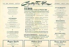 Old Seattle Restaurant Menus « Looky