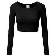 Edessa Crop Top ($24) ❤ liked on Polyvore featuring tops, viscose top, long sleeve tops, scoop neck top, long sleeve crop top and rayon tops