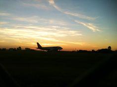 Airbus A-320 Take Off at São José do Rio Preto Airport - Brazil - Iphone 3gS - Thiago G. Machado