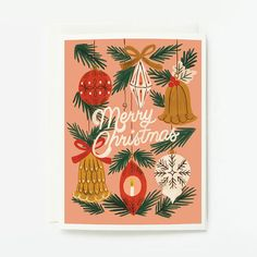 ID: 1175 Christmas Ornaments Card Description: 4¼ x 5½ , Blank folded card Printed full color on 88lb cotton cardstock Individually branded and