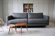 IKEA Karlstad 3 seater with cover fr.o.m. Bemz.com (Belgian Linen, Zinc Grey).