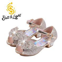 ea231b6491d 2016 Dětské nový módní vysoké podpatky SANDAŁY princezna pět stylů večírek  prom boty pro dívky vysoce