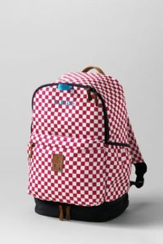 Boys' Small Check Dash Pack from Lands' End. For Jack?