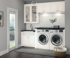 Cardell Kitchen Cabinets - Stubben in White Laundry Room Small Laundry Room Ideas are a lot of fun if you find the right ones and use them adequately. With the right approach and some nifty ideas you can take things to the next level. White Laundry Rooms, Mudroom Laundry Room, Modern Laundry Rooms, Laundry Room Layouts, Laundry Room Remodel, Farmhouse Laundry Room, Laundry Room Organization, Laundry Room Design, Laundry In Bathroom