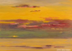 "Peaceful sunrise at Atlantic Beach  oil on panel, 5x7""  Jaime Howard"