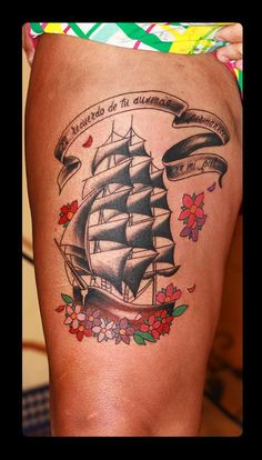 traditional tattoo  #old school tattoo #boat tattoo