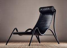 London Design Festival Studio Swine used very hard rubber to craft this black furniture collection, designed for American indust. Black Furniture, Deco Furniture, Funky Furniture, Furniture Design, Outdoor Furniture, Bathroom Furniture, Home Design, Office Chair Without Wheels, London Design Festival