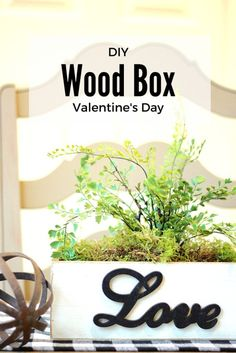 An easy DIY Valentine's Day Wood Box. Tutorial included. It's so neutral you could use it year round. Also makes a great gift idea.