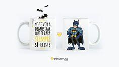 Taza personalizada para un amante de #Batman y #Hollister