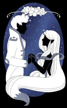 """Bee and Puppycat Space Outlaw and Space Princess story, """"I can help you think of a happy ending."""" beexspaceoutlaw"""